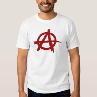 Anarchie-Rot T Shirts