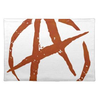 Anarchie-Symbol Stofftischset