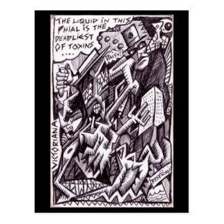 Anarchist an großem durch Brian Benson Postkarte