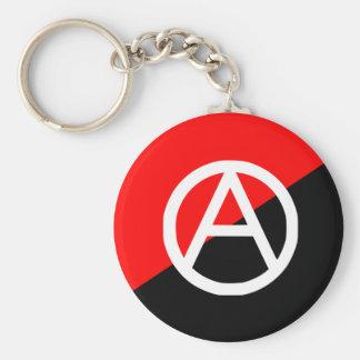 Anarchist mit A Symbol2, Kolumbien-Flagge Schlüsselanhänger