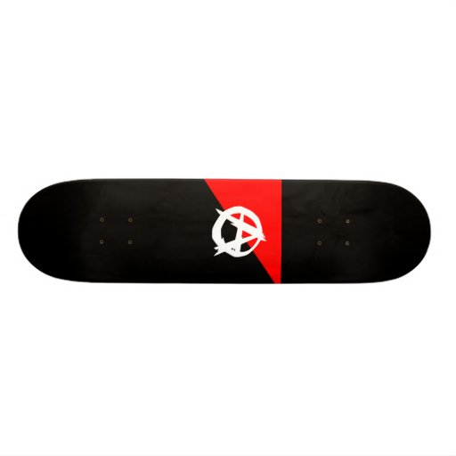 Anarchisten-Flagge Bedruckte Skateboarddecks