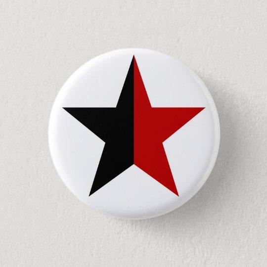 Anarchy Star Klassisch (schwarz / rot) Runder Button 3,2 Cm