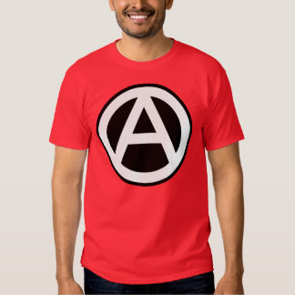 Anarchy Symbol Klassisch (schwarzer Hintergrund) Shirt