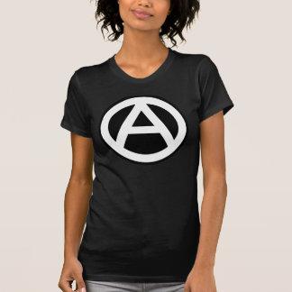 Anarchy Symbol Klassisch (schwarzer Hintergrund) T Shirt