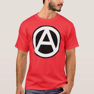 Anarchy Symbol Klassisch (schwarzer Hintergrund) T-Shirt