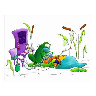 Anästhesie-Doktor Frog Postkarte