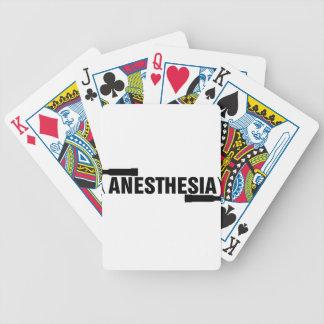 Anästhesie-Mac-Blatt Bicycle Spielkarten