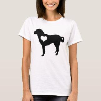 Anatolischer Schäfer-Hundeherz-T - Shirt