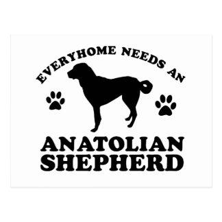 Anatolischer Schäfer-Hundevektorentwurf Postkarte