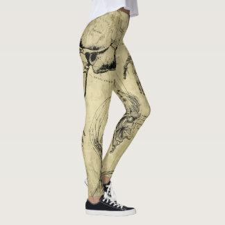 Anatomie-Druck-Gamaschen Leggings