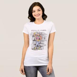 Anatomie eines Cowgirl-T - Shirt