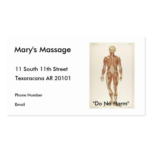 Anatomie-Hinterteil Visitenkarten Vorlage