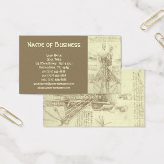 Anatomie-Skizze der Wirbelsäule Leonardo da Vinci Visitenkarte