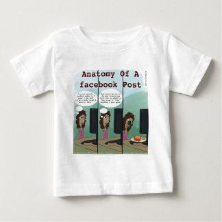 Anatomie von A facebook Posten lustig Baby T-shirt