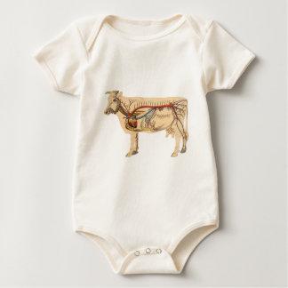 Anatomische niedliche Kuh Baby Strampler