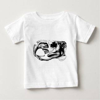Anatomisches Biber-Schädel-Schwarzes u. Weiß Baby T-shirt