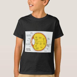 Anatomisches Diagramm des menschliches Augen-Balls T-Shirt