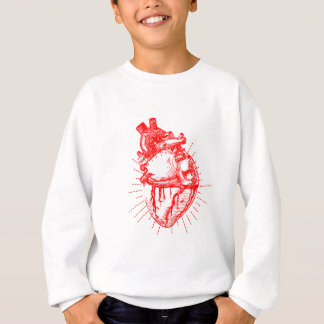 Anatomisches Herz-rote u. weiße Sammlung Sweatshirt