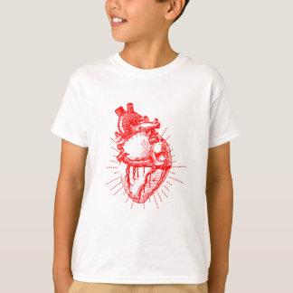 Anatomisches Herz-rote u. weiße Sammlung T-Shirt
