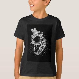 Anatomisches Herz-schwarze u. weiße Sammlung T-Shirt