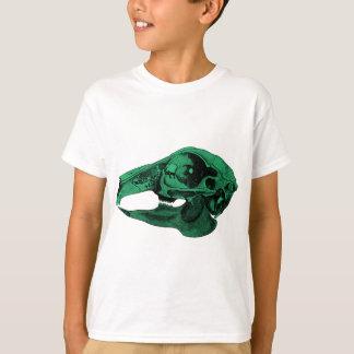 Anatomisches Kaninchen-Schädel-Grün T-Shirt
