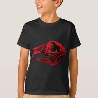 Anatomisches Kaninchen-Schädel-Rot T-Shirt
