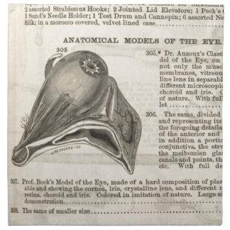 Anatomisches Modell des Auges Stoffserviette