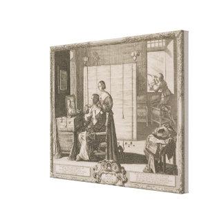 Anblick, graviert vom Künstler, c.1630-40 (engravi Galerie Gefaltete Leinwand