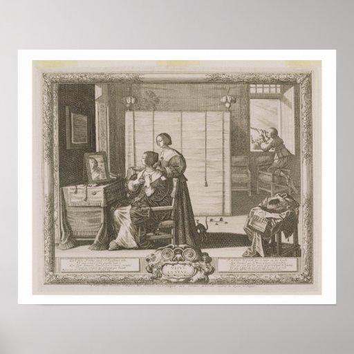 Anblick, graviert vom Künstler, c.1630-40 (engravi Plakate