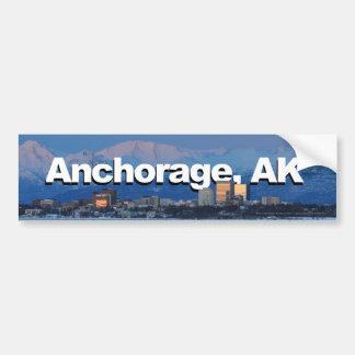 Anchorage Alaska mit Anchorage im Himmel Autoaufkleber