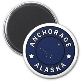 Anchorage Alaska Runder Magnet 5,1 Cm