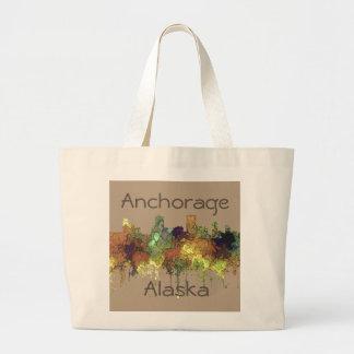 Anchorage, Alaska-Skyline - SG - Jumbo Stoffbeutel