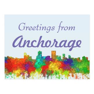 Anchorage-Alaska Skyline-SG Postkarte