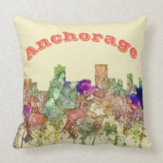 Anchorage-Alaska-Skyline SG-Verblaßten Ruhm Kissen