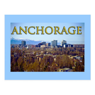 Anchorage, Alaska, USA Postkarte