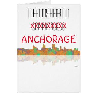 Anchorage-Skyline Karte