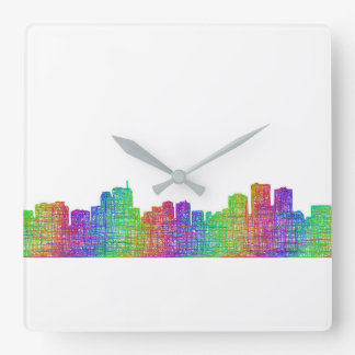 Anchorage-Skyline Quadratische Wanduhr