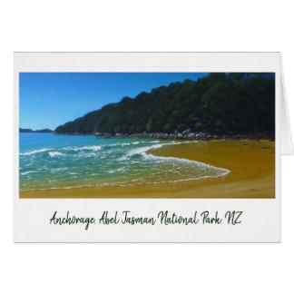Anchorage-Strand, Nationalpark NZ Abel Tasmans Karte