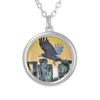 Ancient Stonehenge & Rook Corvid-lover's Gift Necklace