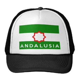 Andalusien-Regionsflaggenspanien-Landtextname Kultcaps