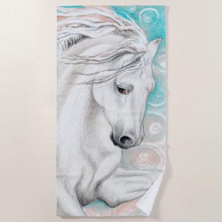 Andalusisches Pferd im Blau Strandtuch