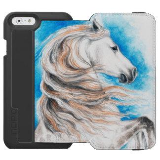 Andalusisches Pferdeblau Incipio Watson™ iPhone 6 Geldbörsen Hülle