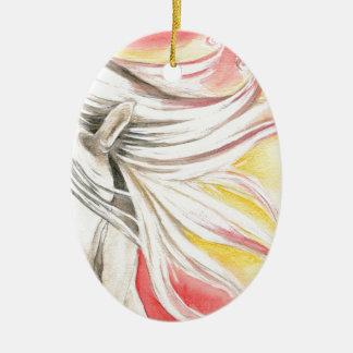 Andalusisches Sonnenschein-Pferd Keramik Ornament