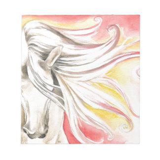 Andalusisches Sonnenschein-Pferd Notizblock