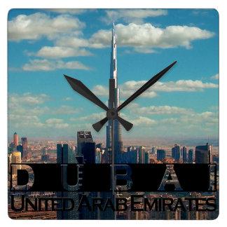 Andenken Dubais UAE Quadratische Wanduhr