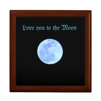 Andenken-Kasten mit blauem Mond Erinnerungskiste