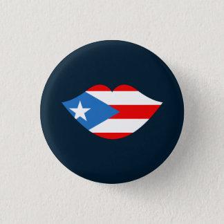 Andenken: Lippen: Puerto- Ricoflagge: Button