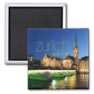 Andenken-Magnet-Änderungs-Jahr Zürichs die Schweiz Quadratischer Magnet