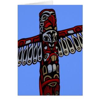 Andenken Vancouvers BC kardiert Totempfahl-Kunst-K Grußkarte