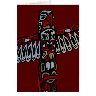 Andenken Vancouvers BC kardiert Totempfahl-Kunst-K Karten